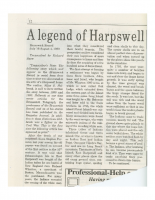 A Legend of Harpswell, July 16-August 4, 1960