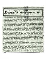 Brunswick 40 Years Ago