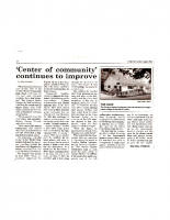 Center of Community Continues to Improve