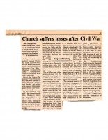 Church Suffers Losses After Civil War