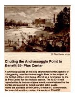Chuting the androscoggin Point to Bennefit 55 Plus Center