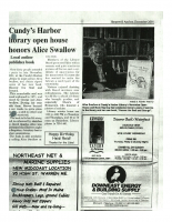 Cundys Harbor Library Open House Honors Alice Swallow