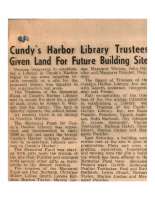 Cundys Harbor Library Trustees Given Land For Future Building Site