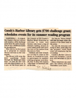 Cundys Harbor Library gets 700 challenge Grant