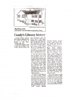 Cundys Library History