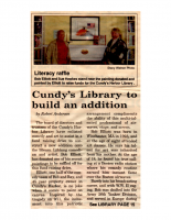 Cundy's Library to Build an Addition