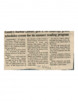 Fall Programs at Cundy's Harbor Library