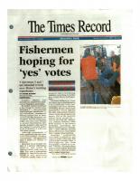 Fishermen Hoping For Yes Vote