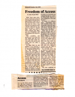Freedom of Access