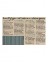 Grants Volunteers Aid Cundys Harbor Library Project