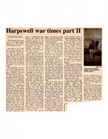 Harpswell War Times Part II
