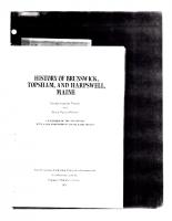 History of Brunswick Topsham and Harpswell Maine