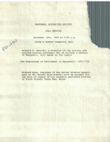 History of the Developement of the Town of Harpswell
