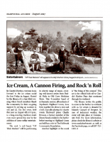 Ice Cream, A Cannon Firing and Rock n Roll