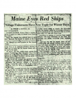 Maine Eyes Red Ships