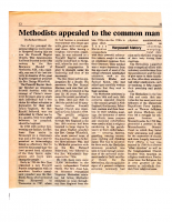 Methodists Appealed to the Common Man