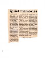 Quiet Memories