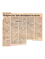 Religious Tax Had Churchgoers in an Uproar