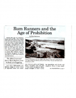 Rum Runners and the Age of Prohibition