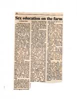 Sex Education on the Farm