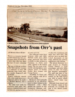 Snapshots From Orr's Past
