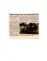 Stone Soup Holds International Feast