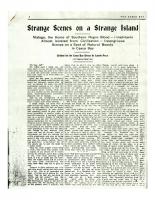Strange Scenes On A Strange Island