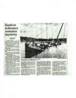 Sunken Scooner Remains a Mystery