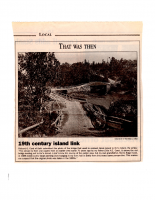That Was Then – 19th Century Island Link