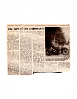 The Lure of the Motorcycle