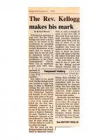 The Rev Kellogg Makes His Mark