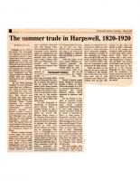 The Summer Trade in Harpswell 1820-1920