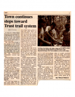 Town Continues Steps Towards Trust Trail System