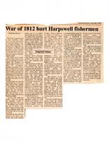 War of 1812 Hurt Harpswell Fishermen