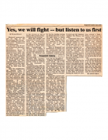 Yes we will Fight But Listen to Us First